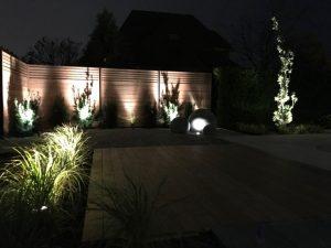 Éclairage paysager