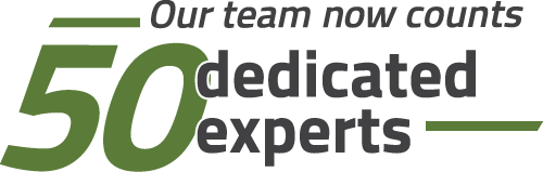 Our team now counts 50 dedicated experts